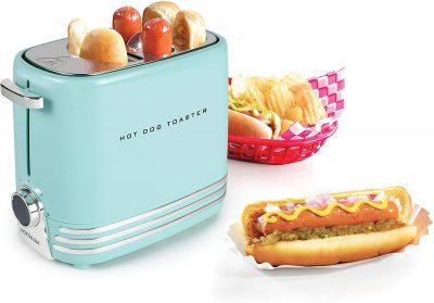 Nostalgia Pop-up 2 Buns retro hot dog toaster