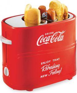 Nostalgia Coca-Cola 2 Buns hot dog toaster