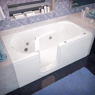 Spa World Venzi Rectangular Soaking Walk-In Bathtub