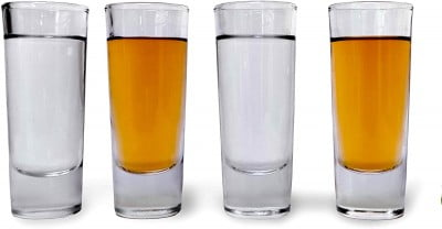 a pack of 4 tall shot glasses