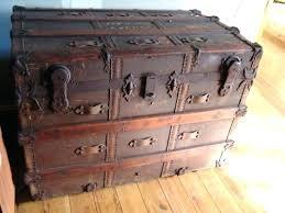 Wooden vintage storage trunk